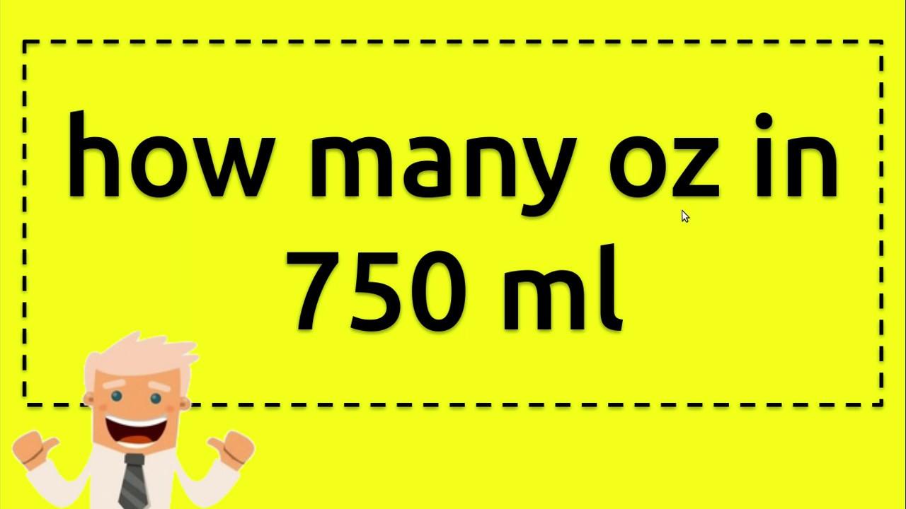 how many oz in 750 ml - YouTube