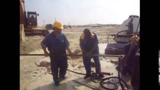 قناة السويس الجديدة مصر:لحظة ظهور المياه فى الحفرأغسطس 2014