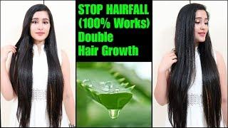 ALOEVERA HAIR OIL WILL STOP HAIRFALL - 100% | Get LONG & SHINY HAIR