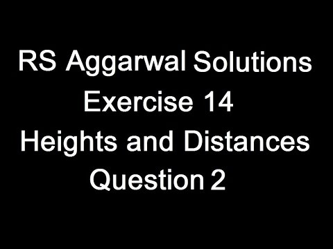 Class 10th Mathematics RS Aggarwal Chapter 14 (Heights and Distances ) Question 2 Solution(Hindi)