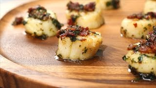 Bacon Scallops with Garlic Butter Sauce