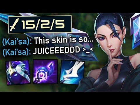New KDA ALL OUT Kaisa Skin is INSANE - PBE League of Legends Gameplay