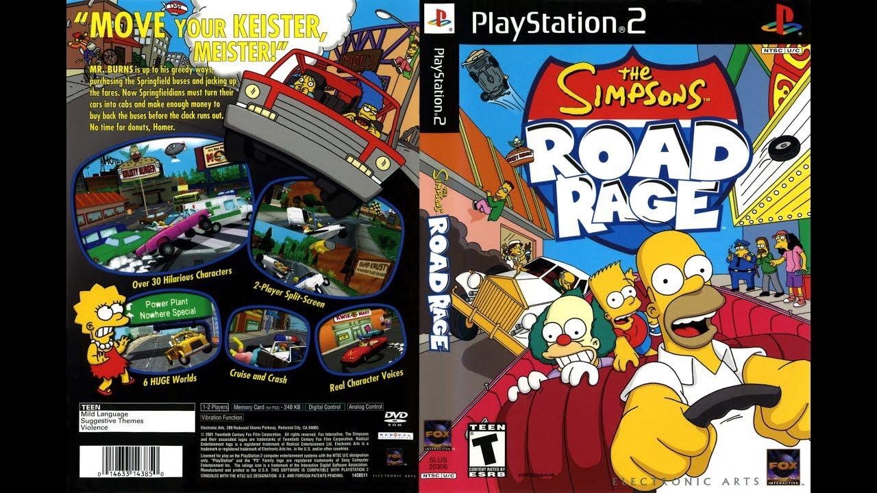 simpsons road rage playstation 3