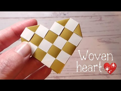 Make A Stunning Woven Paper Heart - Without Glue!