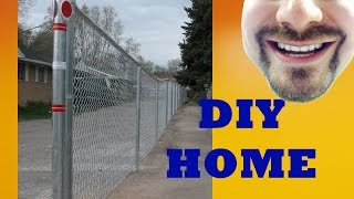 How To Install A Chain Link Fence 250 Linear Feet!!!