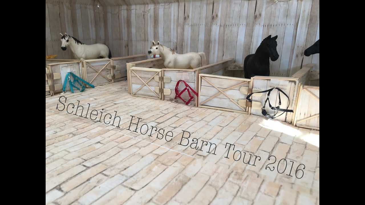 Schleich Horse Barn Tour 2016 - YouTube
