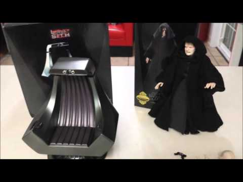 SideShow Emperor Palpatine and Throne Chair Star Wars & SideShow Emperor Palpatine and Throne Chair Star Wars - YouTube