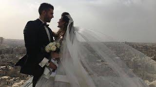 Newlyweds in Aleppo take wedding photos amid city ruins