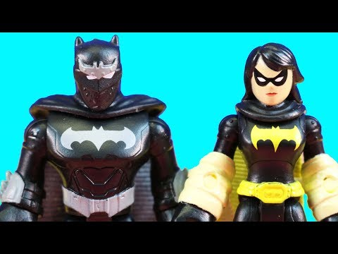 Superman & The Flash Captured + Imaginext Series 10 Surprise Toys And Black Bat & Ninja Batman