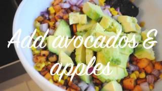 Winter Guacamole ( Avocados, Yams, Pumpkin Seeds & Apples)