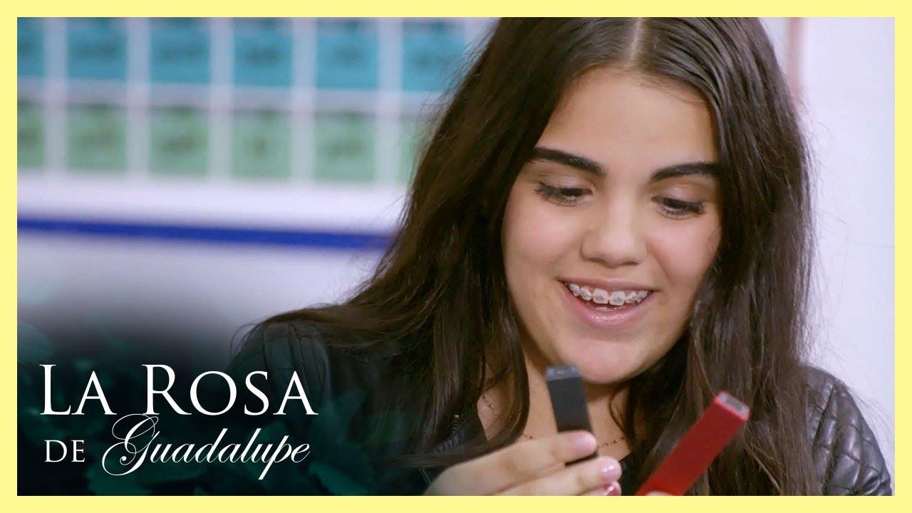 ¡Luisa se emociona al recibir su primer vapeador!   La vida se respira   La Rosa de Guadalupe
