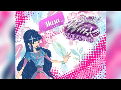 World of winx Dress up - Musa Casual outfit - Game Walkthrough + Bonus in Comment section!!