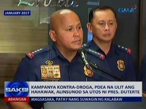 Kampanya kontra-droga, PDEA na ulit ang hahawak, alinsunod sa utos ni Pres. Duterte