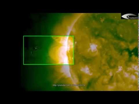 Activity alien ships   UFOs near the Sun in the February 11, 2014