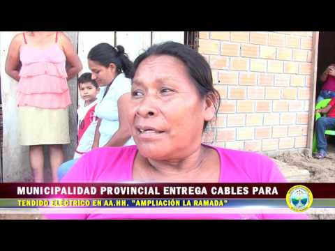 MPAA ENTREGA CABLES PARA TENDIDO ELÉCTRICO EN AA.HH. AMPLIACIÓN LA RAMADA