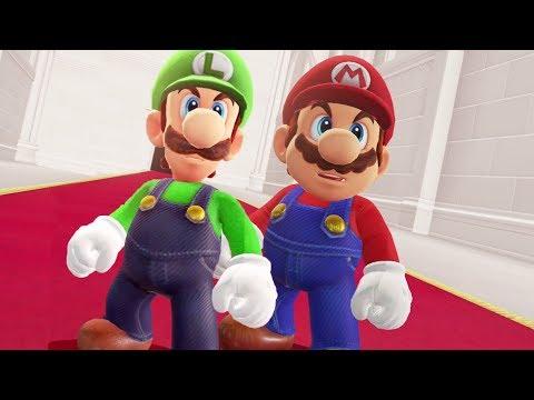 Mario and Luigi in Super Mario Odyssey - Final Boss & Ending