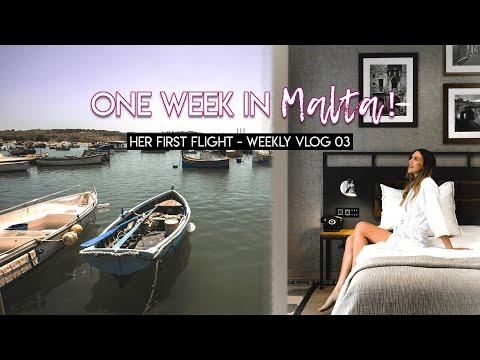 Her First Flight! One Week In Malta - Weekly Vlog 03