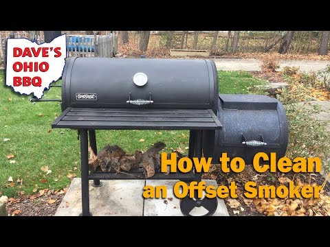 Cleaning an Offset Smoker - How to Clean a Smoker