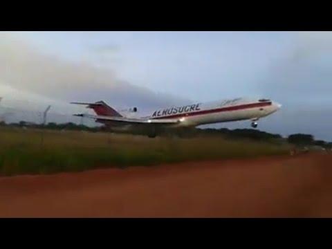Así fue la caída del avión de Aerosucre en Puerto Carreño, Vichada