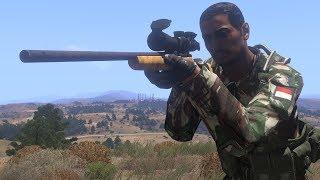 1 SNIPER VS 100 INSURGENTS IN ARMA 3 (Tribute to Legendary Indonesian Sniper, Tatang Koswara)