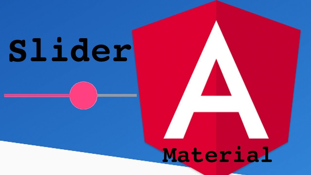Angular Material Slider