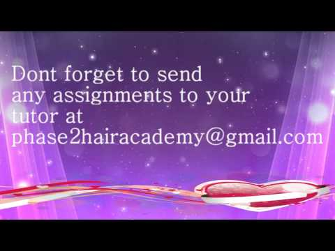 Welcome to your online hairdressing course