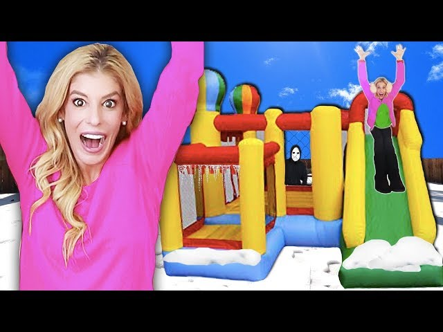 24 Hours inside a GAME MASTER BOUNCE HOUSE! (Who Wins $10,000 & Matt Missing in Top Secret Hideout)