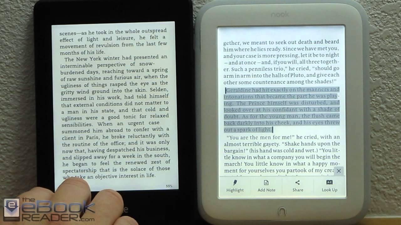 Kindle Vs Sony Reader: Kindle Paperwhite 2 Vs Nook GlowLight Comparison Review