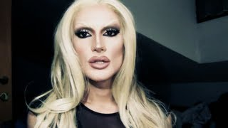 DRAG QUEEN FEMINISATION MAKEUP: Blonde Nude Bombshell (The Donatella Versace) Thumbnail