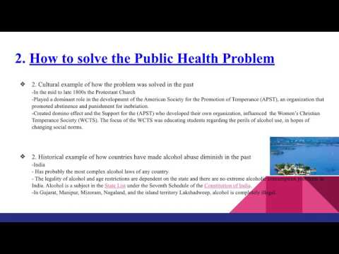 Alcohol Consumption Abuse and Public Health