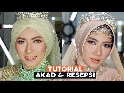 Wedding Muslimah Tutorial Makeup Akad Dan Resepsi 2in1| Inivindy