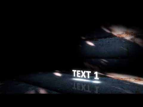 Glowing text - After Effects Project