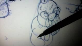 Как нарисовать мишку Тедди с зайчиком(Тедди., 2016-06-08T17:18:46.000Z)