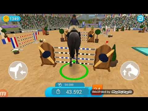 Show jumping jeux de saut d'obstacle à cheval