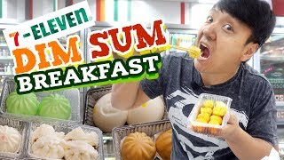 7-ELEVEN DIM SUM Breakfast in HONG KONG