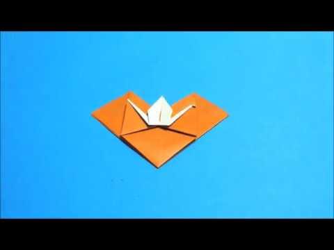 簡単 折り紙 折り紙ハート鶴折り方 : youtube.com