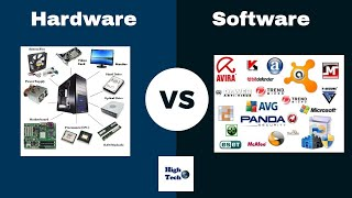 What are the differences between hardware and software ?