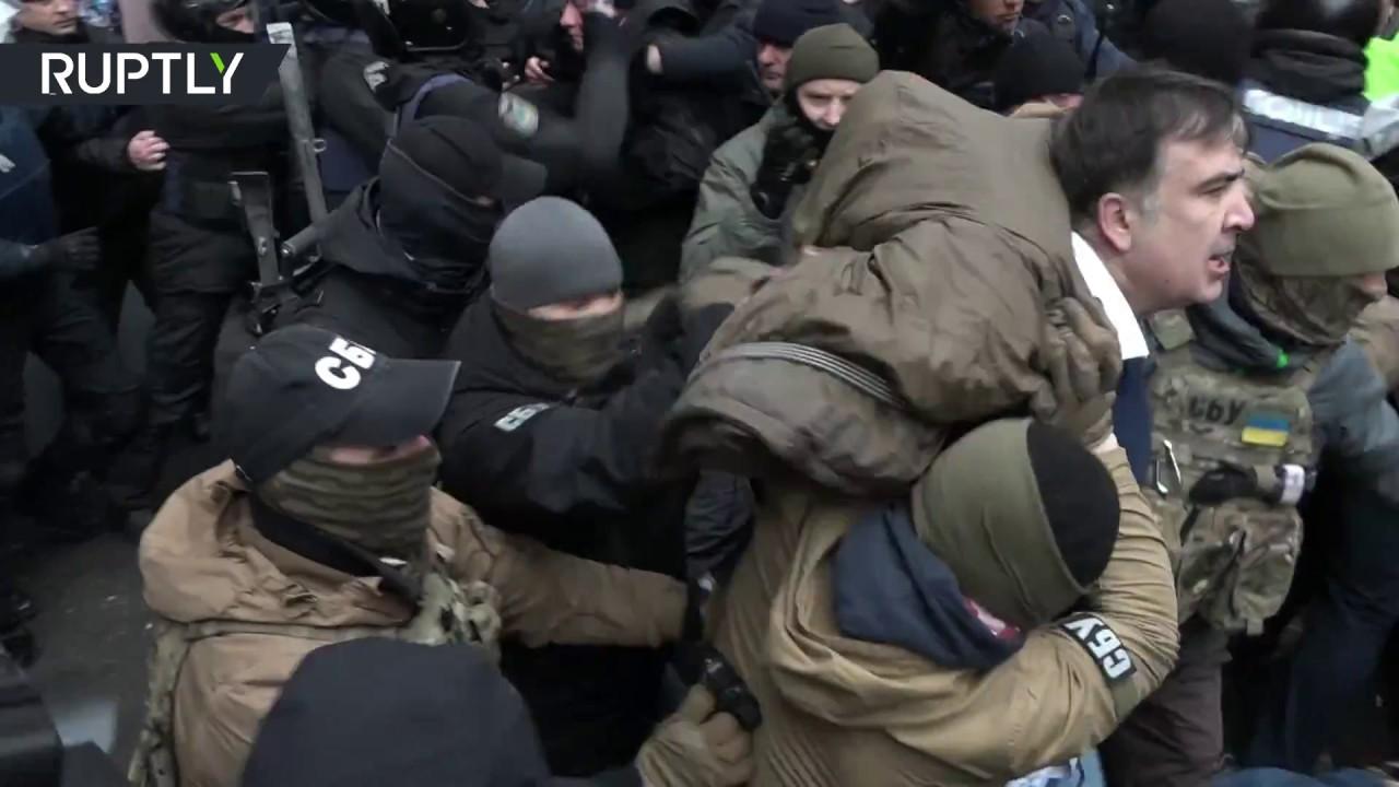 Видео задержания Михаила Саакашвили в Киеве