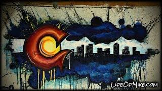 Colorado flag graffiti time lapse