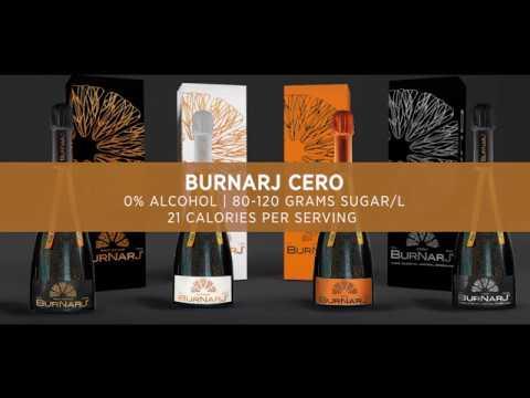 Оранжевое игристое вино Burnarj