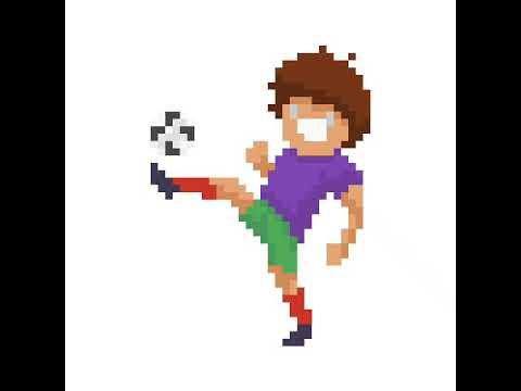 Pixel Art Footballeur Youtube