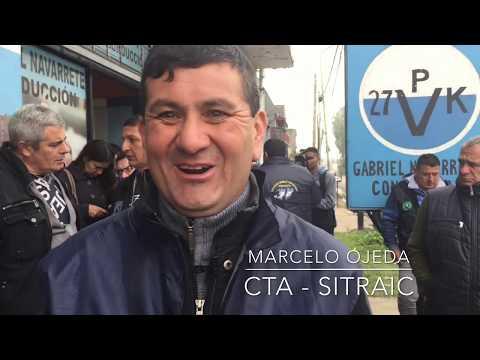 Marcelo Ojeda del Sitraic reafirmó el apoyó del Frente Sindical a la fórmula presidencial Fernández - Fernández