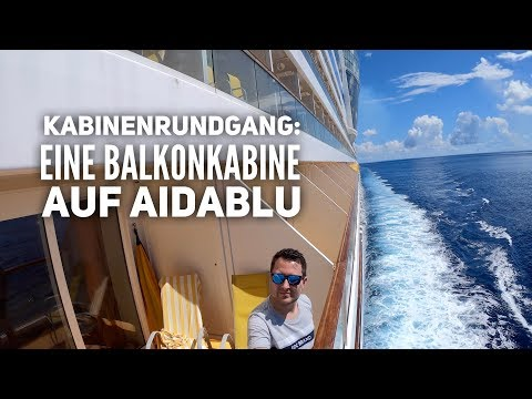 Kabinenrundgang: Balkonkabine auf AIDAblu