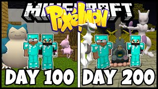 We Spent 200 Days In Minecraft Pixelmon - Duo Minecraft 200 Days Pixelmon