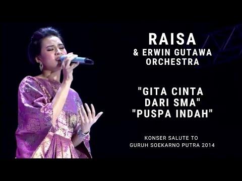 Raisa - Gita Cinta dari SMA/Puspa Indah (Konser Erwin Gutawa Salute to Guruh Soekarno Putra 2014)