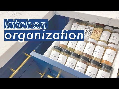 KITCHEN ORGANIZATION ON A BUDGET + FREE LABEL TEMPLATE