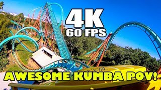 Kumba Awesome 4K 60FPS Multi Angle Roller Coaster Onride POV Busch Gardens Tampa