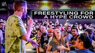 500 Person Crowd And 1 Freestyle Rapper | The Harry Mack Live Experience - freestyle rap music lyrics