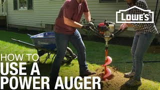 How to Use a Power Auger