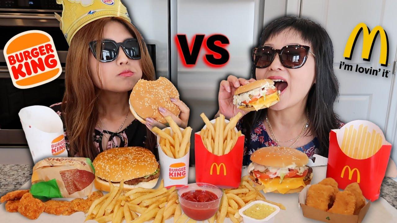 MCDONALD'S VS BURGER KING FEAST! WHOPPER, QUARTER POUNDER, CHICKEN MCNUGGETS, FRIES | EATING SHOW 먹방